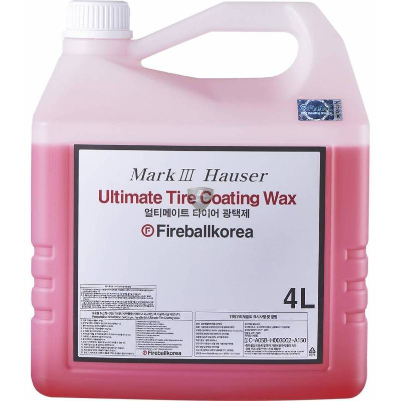 ULTIMATE TIRE COATING WAX RED (satiné) 4L