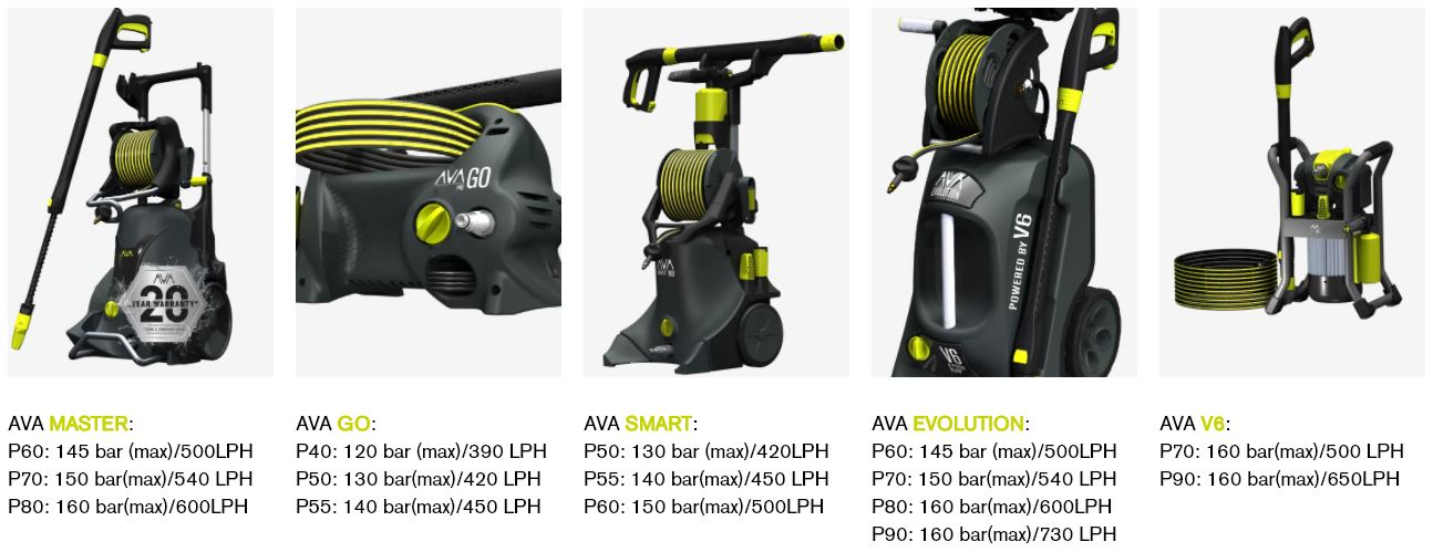 AVA nettoyeurs haute pression pour detailing auto/moto/quad et maison